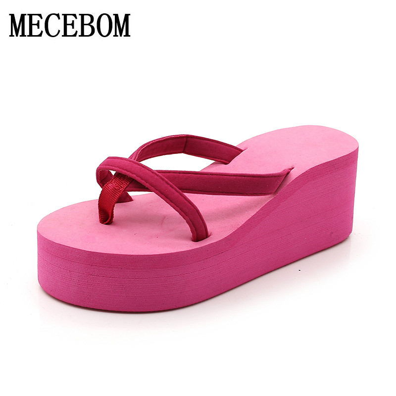 2018 Women Flip Flops Bownot Sandals Shoes Sapato Feminino Beach Wedge Flip Flops Women Slipper Shoes Sandalias Mujer 6122W 2017 women sandals shoes sapato feminino bownot wedge flip flops fashion beach women slipper shoes bohemia women s shoes flower