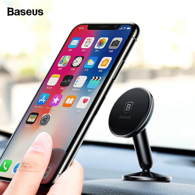 buy online 1be28 84600 US $9.99 35% OFF|Baseus Magnetic Car Phone Holder For iPhone XS Max X  Samsung S10 Magnet Mount Holder for Phone in Car Mobile Phone Holder  Stand-in ...