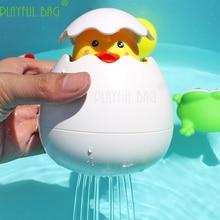 Penguin bathing toys raining clouds little duck egg baby playing water toys shower bath for children Interesting bath E04