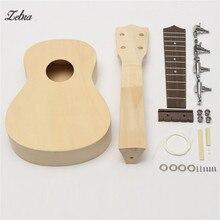 """Zebra 21""""  DIY Unassembled Ukulele Rosewood Fretboard Guitar Uke Soprano Hawaii Ukulele Guitarra Kit For Musical Instruments"""