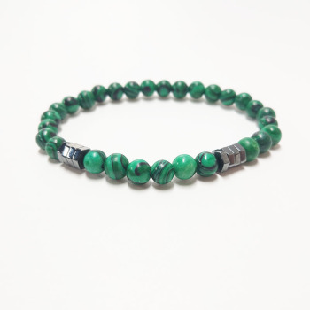 Bracelet 6mm Malachite