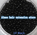 Free shipping1 bottle/1000pcs Black 2.5mm Micro NANO Rings/Links/Beads For Nano Hair Extensions tool kit 7 Colors Optional