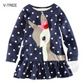 Spring and Autumn new girls long - sleeved T - shirt cotton spigot round neck collar shirt Baby colthes for girls