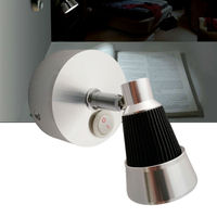 12V DC LED Swivel Reading Light Cool Warm White Bedside Rotate Wall Lighting 3W Book Interior