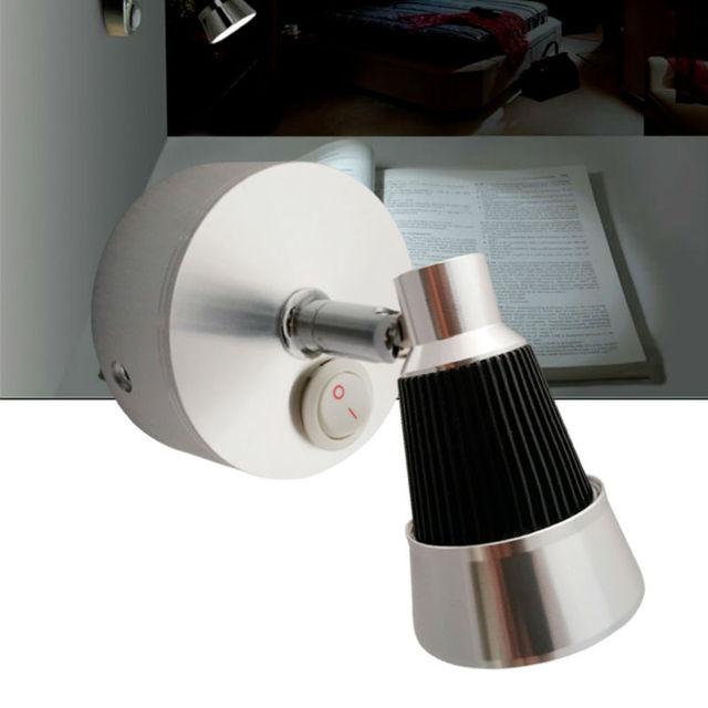 12v dc led swivel reading light cool warm white bedside rotate wall
