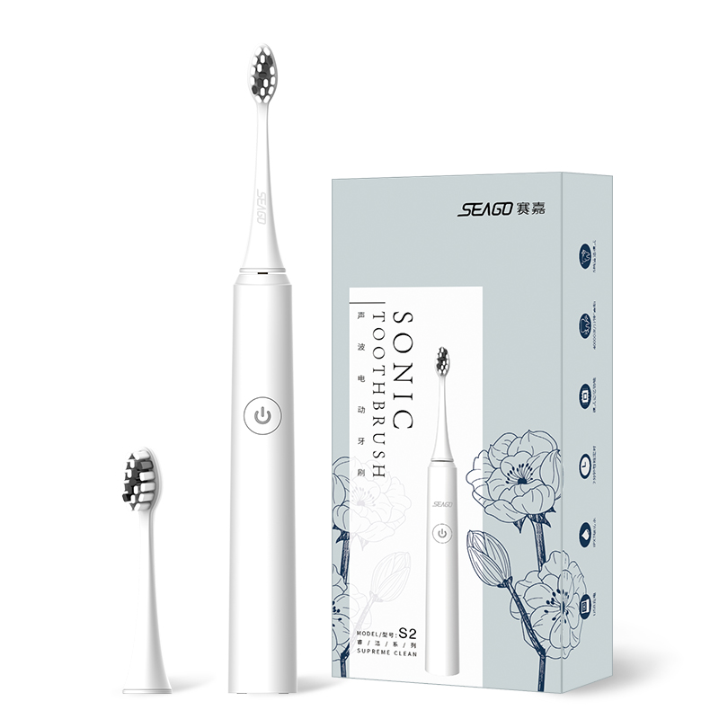 SEAGO Sonic Electric Toothbrush USB Rechargeable For Adults Supreme clean Ultrasonic Toothbrush Smart Timer Brush S2