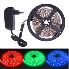 5 M 10 M LED Flexible Strip Lampu 60LED/M 12 V DC Putih Hangat Merah Biru Hijau RGB lampu Hias(China)