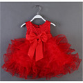 Hot Sale New Baby Girls Dresses Children Clothing Ball Gown Dress Kids Bow Lace Princess Clothes 5 Color YY0726