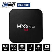 LOKMAT MXQ PRO 4K HD Amlogic S905W Quad Core 64Bit Android Set Top 7 1 1GB