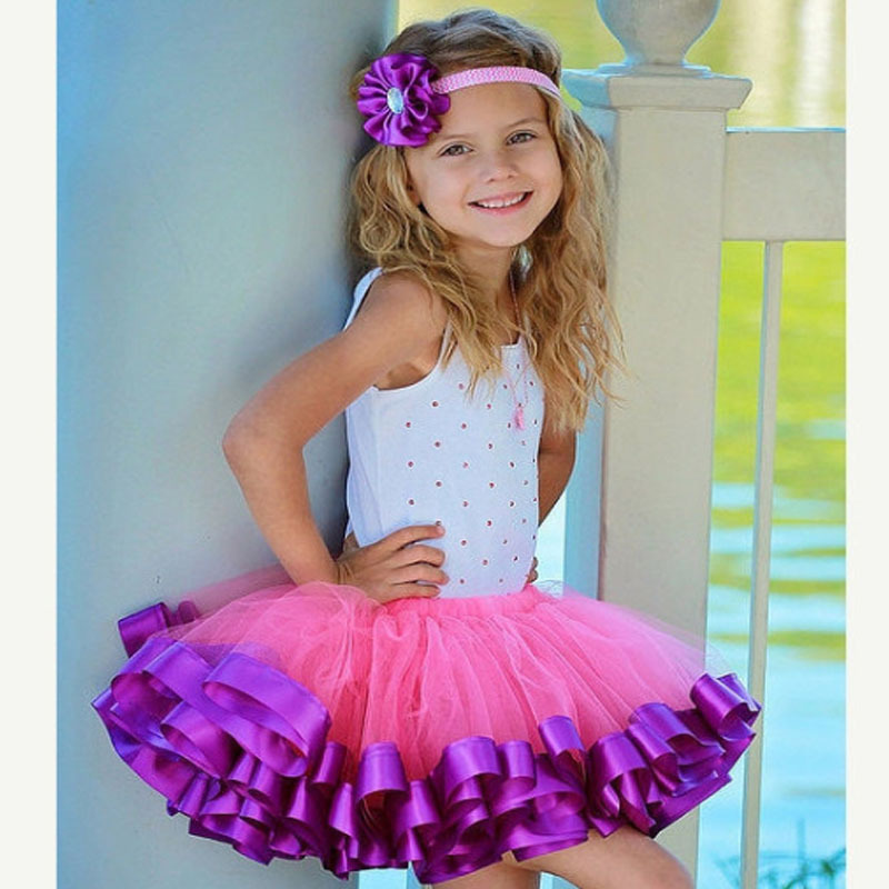 Summer Girls Tutu Skirt Kids Pink Fluffy Childrens Princess Party Dance Tulle Skirts Cheap Miniskirt For 4 10 Years In From Mother