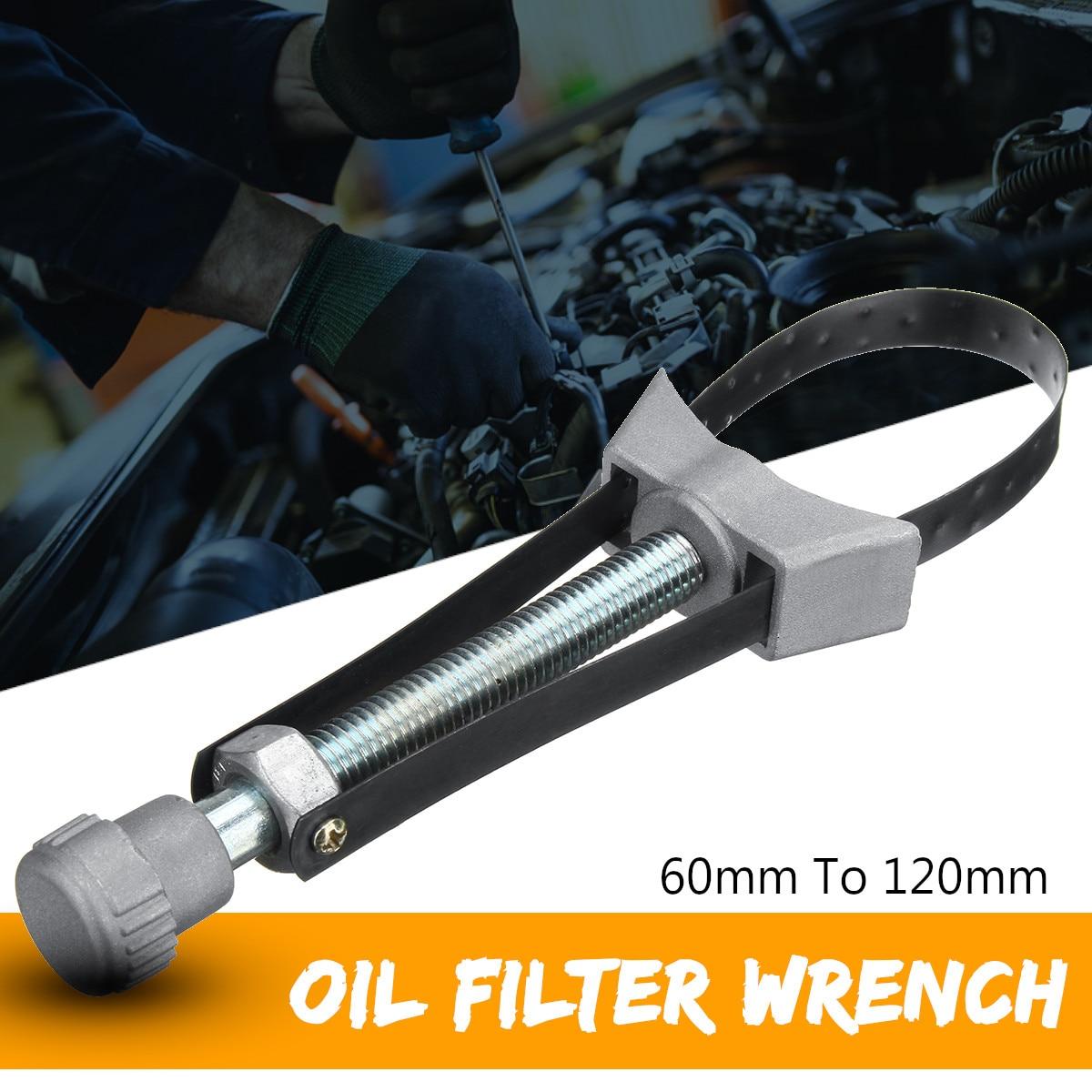 Drillpro 1 unid PC Auto filtro de aceite herramienta de eliminación de la correa de la llave de diámetro ajustable de 60mm a 120mm de alta calidad