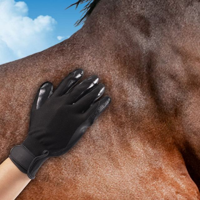 1 Pair Silicone Pet brush Gloves Grooming Cat Horse Glove Dog Bath ...