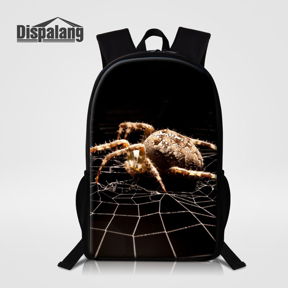 Dispalang Children Animal School Bags For Elementary Students Cool Spider Backpacks Schoolbags For Boys Men Rucksack Rugzak Pack