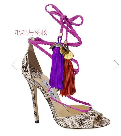 9396ef49c33d Fashion Sexy High Heel Tassel Ankle Strap Sandals Summer Party Shoes Multi  Color Shoes Woman Snakeskin Fringe Stiletto Sandalias-in Women s Sandals  from ...