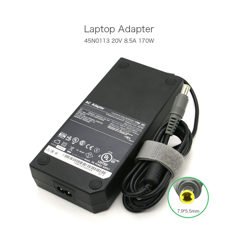 Original 20V 170W AC Adapter For Lenovo ThinkPad W520 0A36227