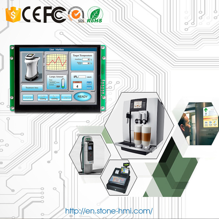 5 inch embedded HMI touch screen with RS232 RS485 TTL MCU port - 5