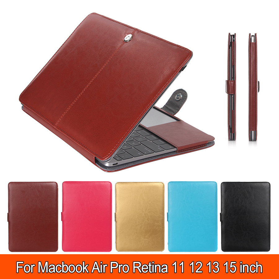 Luxury Leather Sleeve Case For Macbook Air 11 Air 13 Pro 13 Pro 15, Shell Cover Bag For Laptop for Mac Laptop Cases