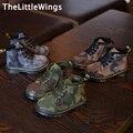 2016 de invierno nuevos zapatos de Moda niños de baloncesto de camuflaje al aire libre niños niñas Keep warm Martin botas Super suave y confortable