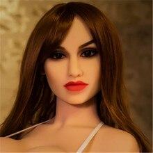 WMDOLL #174  sexy lady sex doll head ,silicone adult dolls head for big size 140cm-168cm sex doll