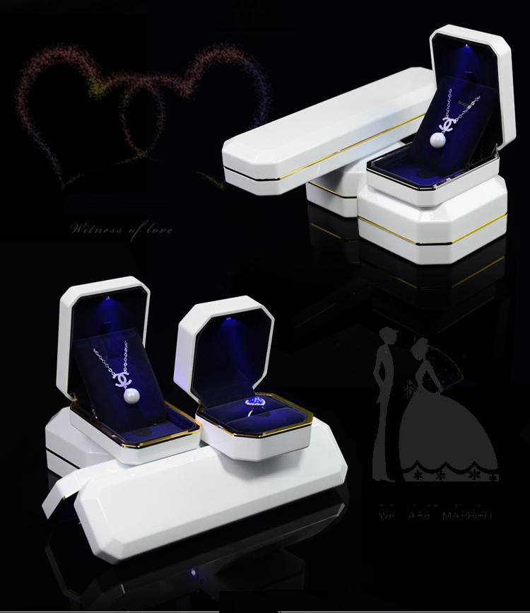The High-grade empty white piano paintmaterials LED lamp light paint box.Jewelry box.( custom LOGO) paradigm prestige sub 1000 piano white