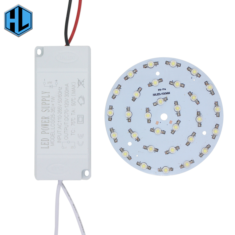 1 set 1W3W5W7W9W12W15W18W21W24W30W36W LED bulb spot light Star high power chip board panel+LED plastic shell power supply driver
