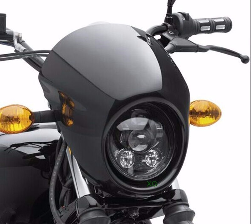 Sportster Fairing Motorcycle Headlight Mask Headlight Fairing Front Cowl Fork Mount For Sportster Dyna Glide FX