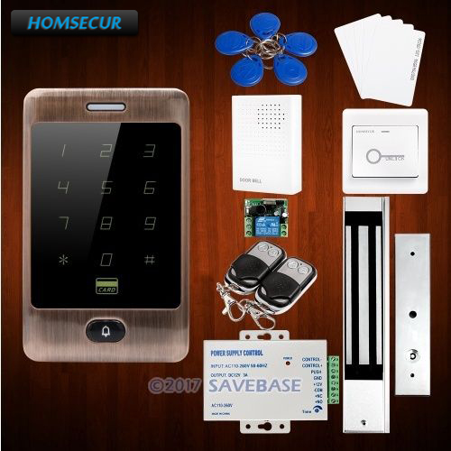 HOMSECUR Waterproof Touch Keypad 125Khz RFID Proximity Reader Access Control+10* Keyfobs free shipping touch keypad access control rfid card and touch keypad access control
