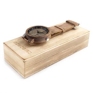 Image 5 - BOBO BIRD Wooden Quartz Men Watches Casual Leather Strap Analog Watch With Gift Box