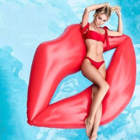 1 Piece Adult Inflatable Lips Swimming Rings Kid Toys Beach Water Play Float Waist Circle Swim Accessories