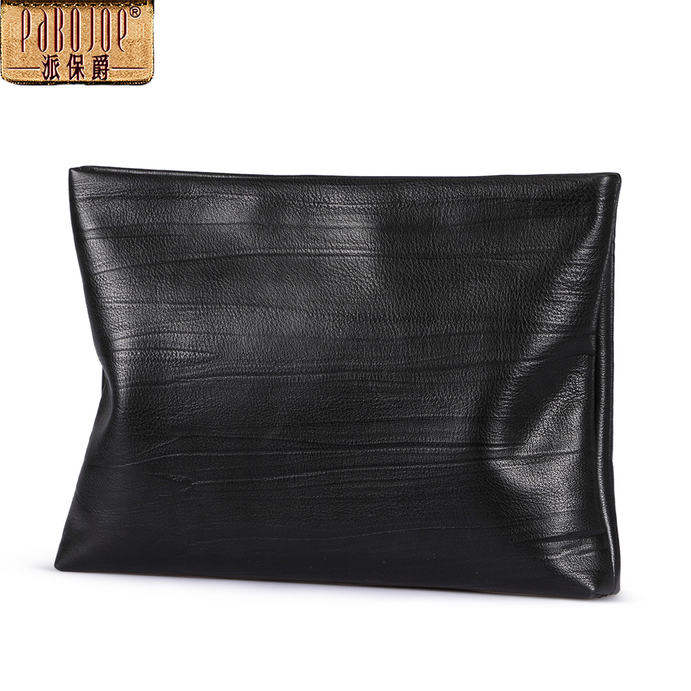 Pabojoe 2018 Men Clutch Bag Genuine Leather Purse England Style Long Male Clutch Wallet Purse men s wallet genuine leather famous brand england style black clutch bag passport purse men card holder crocodile prints
