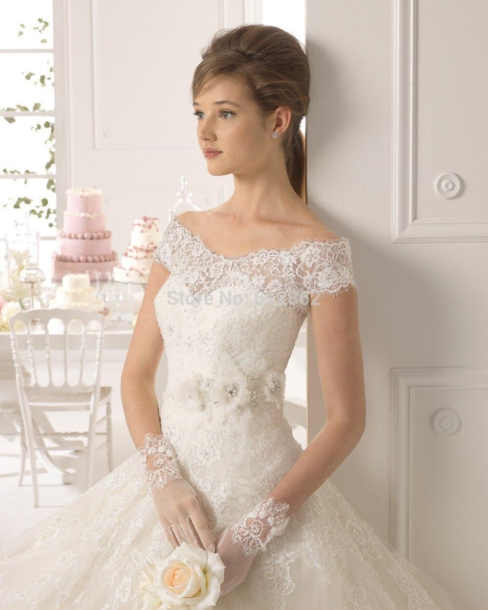 2015 new elegant natural cap sleeve Short Sleeve Princess Tulle ...
