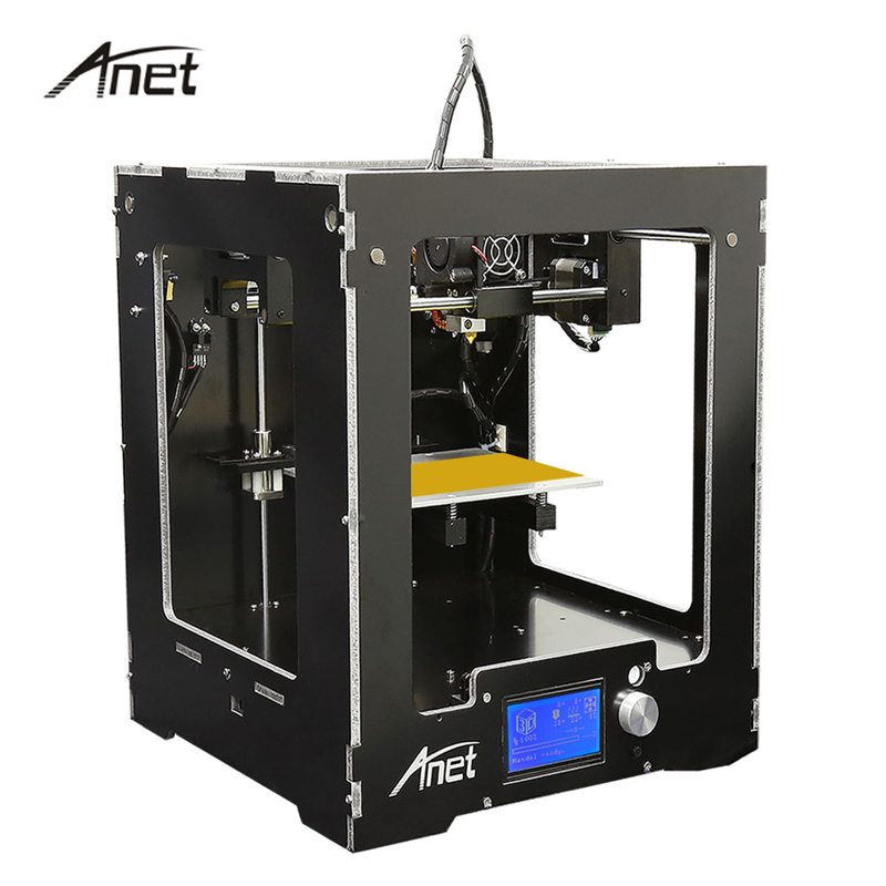 Anet A3 Full Assembled Desktop 3D Printer Aluminum-Arcylic High Precision DIY 3D Printer Kit Gift 10m Filament 8G SD Card anet a8 a6 3d printer high precision impresora 3d lcd screen aluminum hotbed extruder printers diy kit pla filament 8g sd card