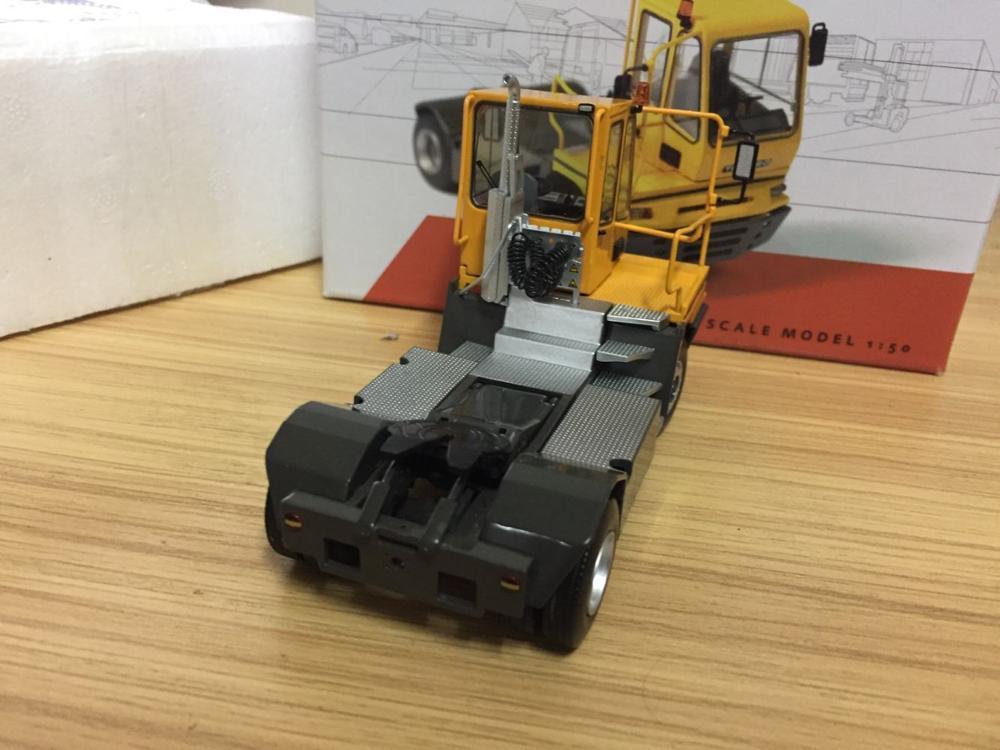 escala amarela modelo 1 50 diecast modelo caminhao 05
