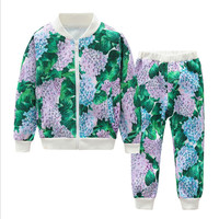 Children S Clothing Autumn New Printing Suit In The Large Children S Zipper Shirt Trousers Boys