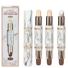 Double-ended 2 In 1 Contour Stick Concealer Stick Highlighter Pen Bronzer Full Cover Blemish Correct
