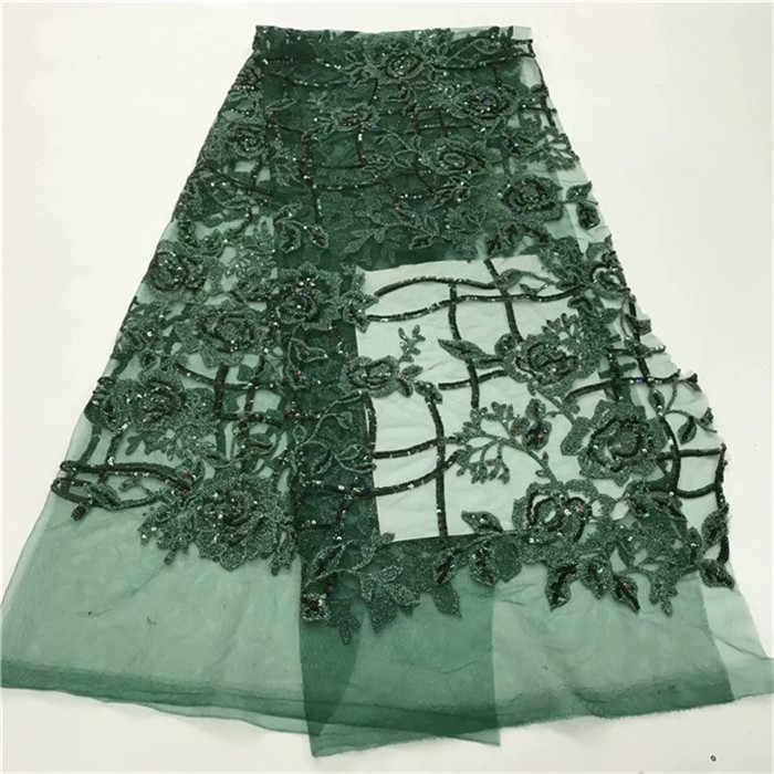 New design Preto verde lago azul shinning glitter lantejoulas Tela Do Laço Bordado net Colado Glitter tecido tule para o vestido sexy