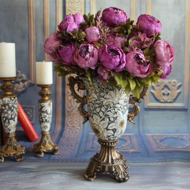 Online shop home decorative flowers european artificial silk flowers image mightylinksfo