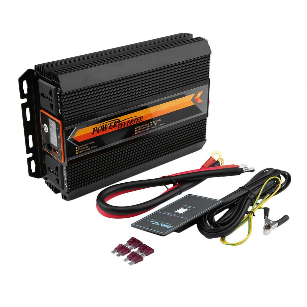 Newest T8102 1500W/3000W Power Inverter Charger Converter LCD Display Car Home Use Power Supply Inverter Hot Drop shipping