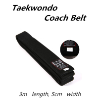 Free Shipping Taekwondo Belt Black Professional Divisa Level Tkd Martial Arts Karate Judo Coach Belt 3m