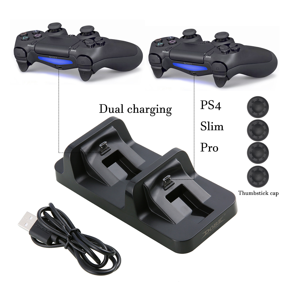 PS4 Slim Pro DualShock 4 Controller USB Charger Charging Dock Station Stand for Sony Playstation 4 PS4 Gamepad gamepad controller charger charging station for ps4 controller led dual charger dock station usb fast charging stand