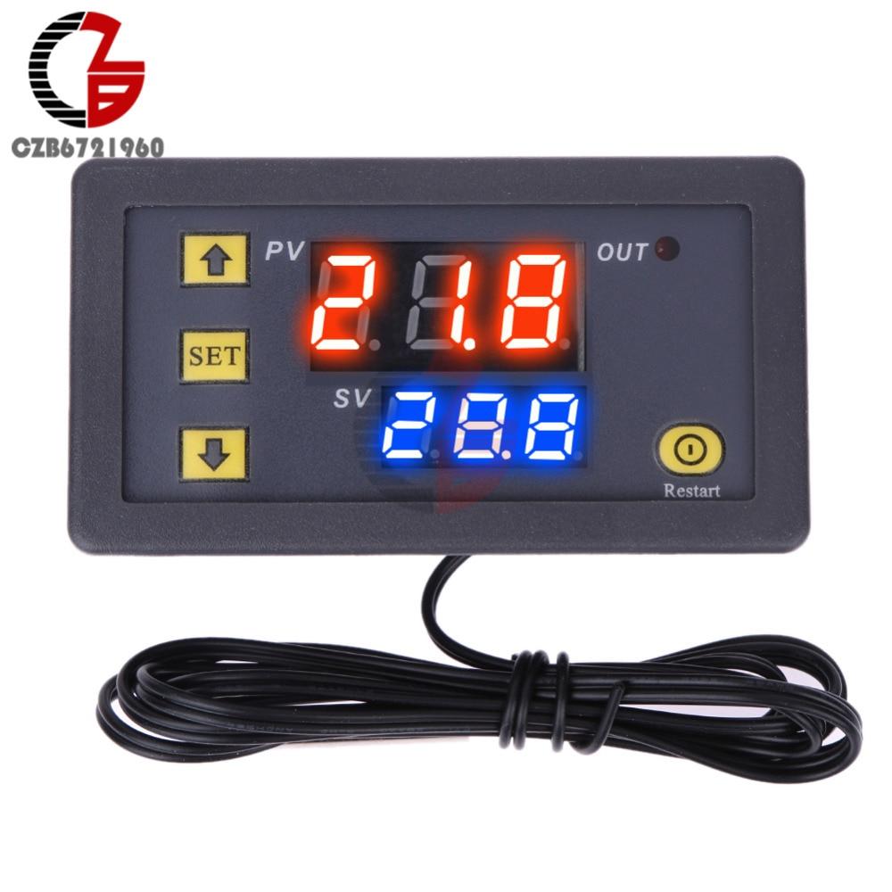 LED DC 12V Digital Thermometer Sensor Probe 50~110°C Temperature Detector XL