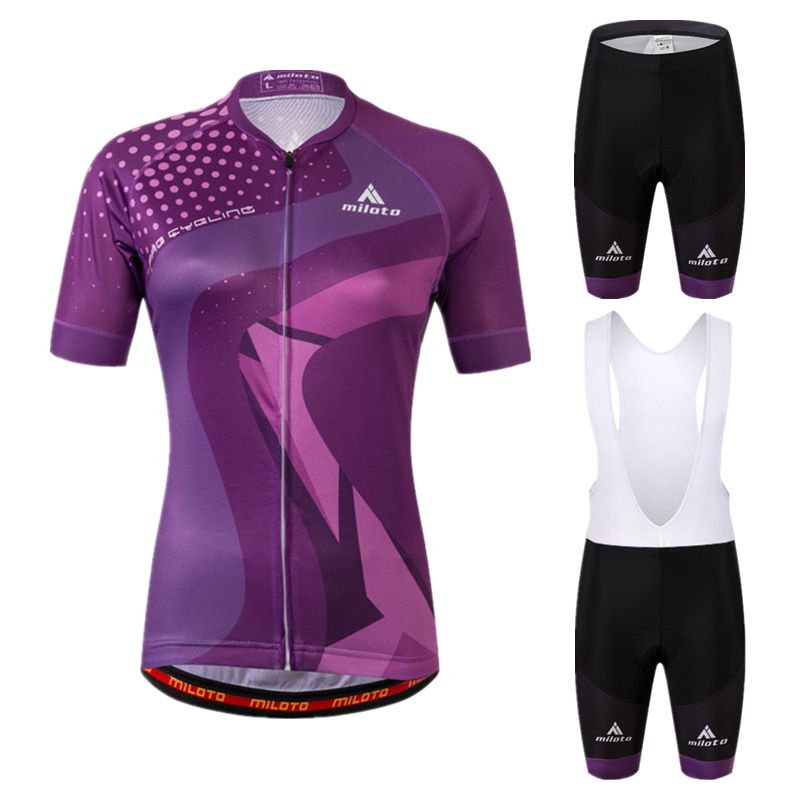 2018 Pro Summer Cycling Jersey Set Women Mountain Bike Breathable Clothing Short Sleeve Clothes Set With Bib Pants Ropa Ciclismo