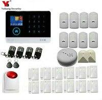 Yobang безопасности Wi Fi GPRS SMS 2,4 дюймов Сенсорная клавиатура дым огонь сенсор детектор дома Защита от взлома системы беспроводной сирена