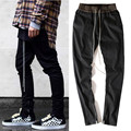 New Retro mens street pants justin bieber west Elastic band pants joggers male hip hop zipper harem long pants black sweatpants