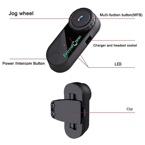 Image 4 - 2PCS FreedConn TCOM OS 100m BT Bluetooth Motorcycle Helmet Intercom Interphone Headset Motorcycle Helmets Headphone for Full Fac