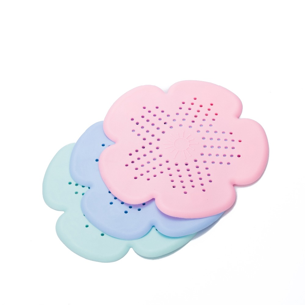 Flowers Kitchen Drains Sink Strainers Filter Sewer Drain Hair Catcher Bathroom Cleaning Tool Kitchen Sink Accessories Gadgets