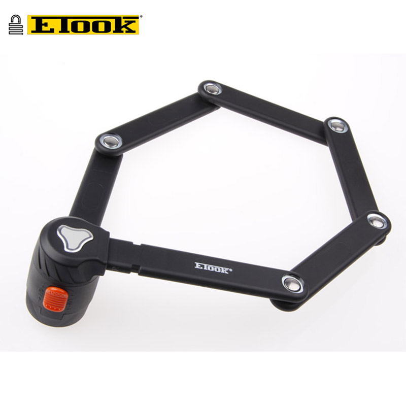 ETOOK 2017 Alloy Steel Folding Road Mountain Bike Lock For Bicycle Anti-theft Cycling Accessories Bicycle Motorcycle Safety Lock rockbros titanium ti pedal spindle axle quick release for brompton folding bike bicycle bike parts