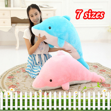 Soft Stuffed Dolphins & Plush Toys Fluffy Animals Cute Pillow Kids dolls Baby Birthday Gifts for Children DropShipping Available