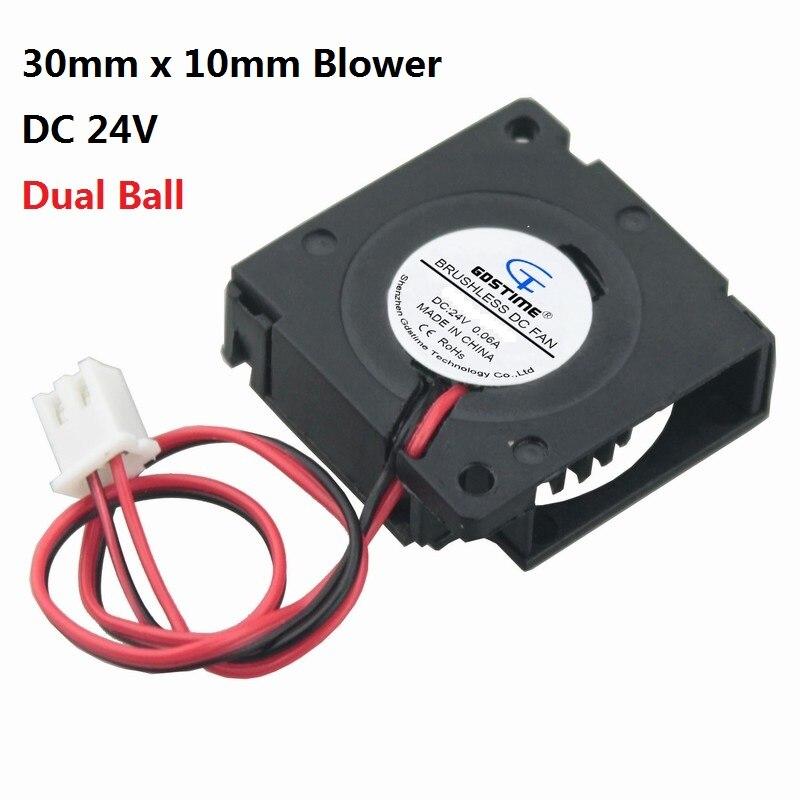 5 pieces Gdstime Ball Bearing 24V DC Micro Cooling Fan 30mm x 10mm Blower Fan 3cm 30x30x10mm 3010 3D Printer Radiator 2Pin 2pcs gdstime dc 24v 140mm x 25mmbrushless cooler cooling fan 5 5 inch 14cm 140x140x25mm big