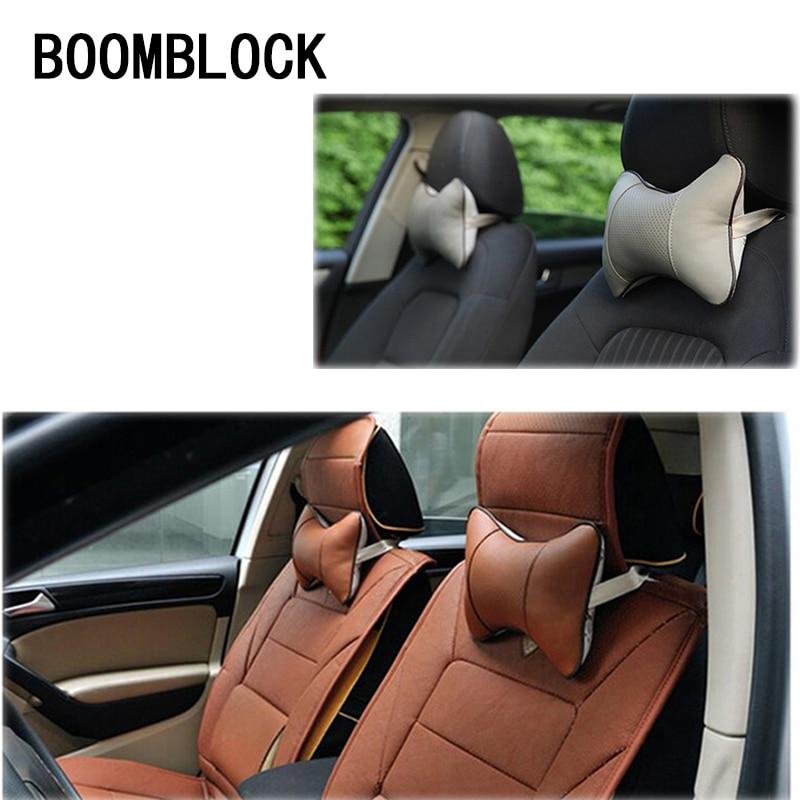 Car Genuine Leather Cushion Covers Pillow For Fiat 500 Kia Rio K2 Ceed Sorento Skoda Octavia A5 A7 2 Rapid Fabia Yeti Superb